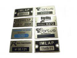 Placa patrimonio Aluminio