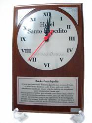 Placa de Homenagem com Relógio