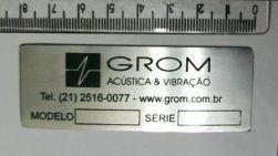 Placa de identificação equipamentos